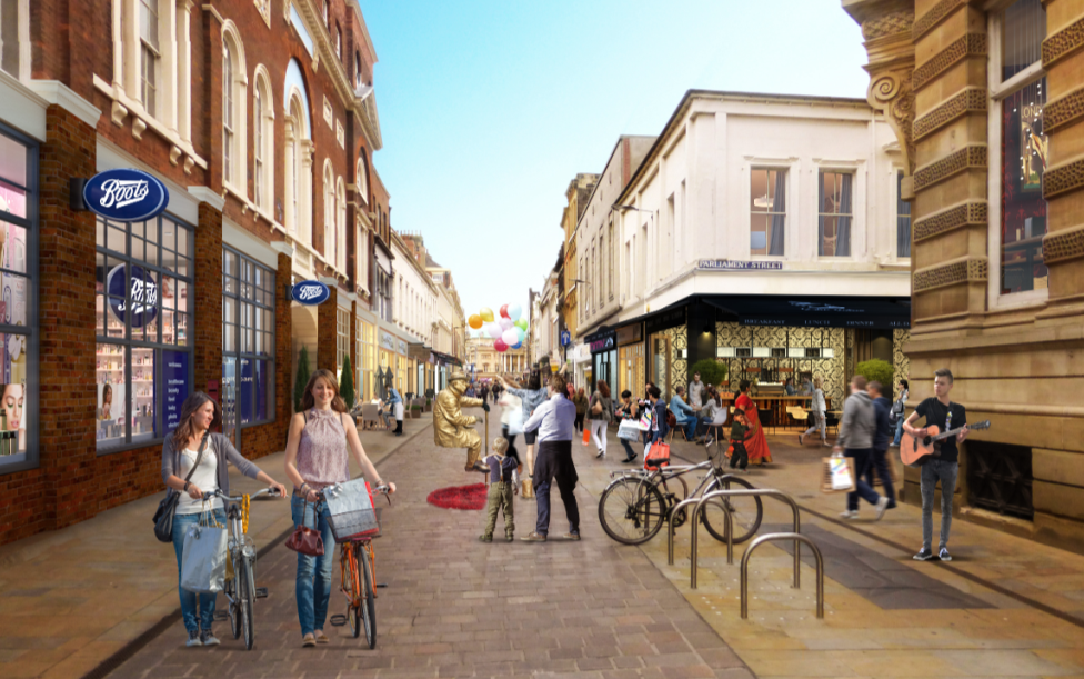 An artist's impression of how Whitefriargate could look.