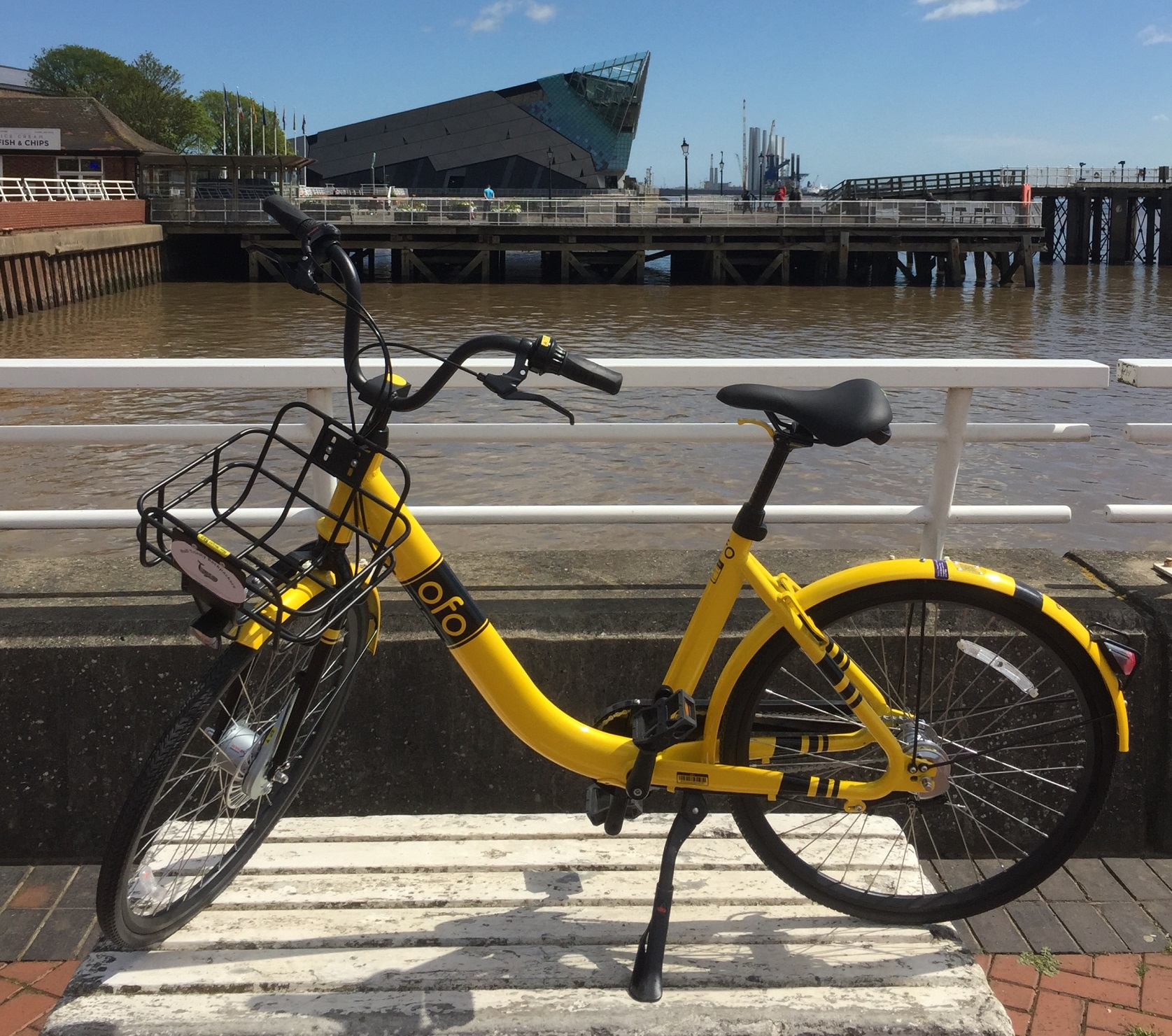 One of the bikes available for rental at Hull Trinity Backpackers.