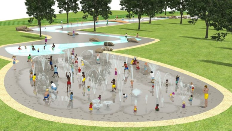 How the East Park splash pad will look after a redesign.