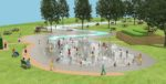 A CGI of the new East Park splash pad